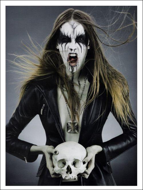 """Black Metal Barbies"" photoshoot by Antonella Arismendi for D-Mode magazine 2008"