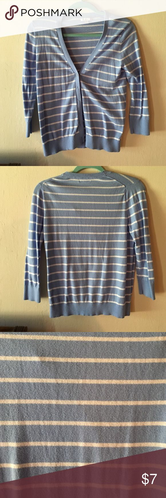 Blue and white Striped Cardigan Blue and white cardigan, soft material. GAP Sweaters Cardigans
