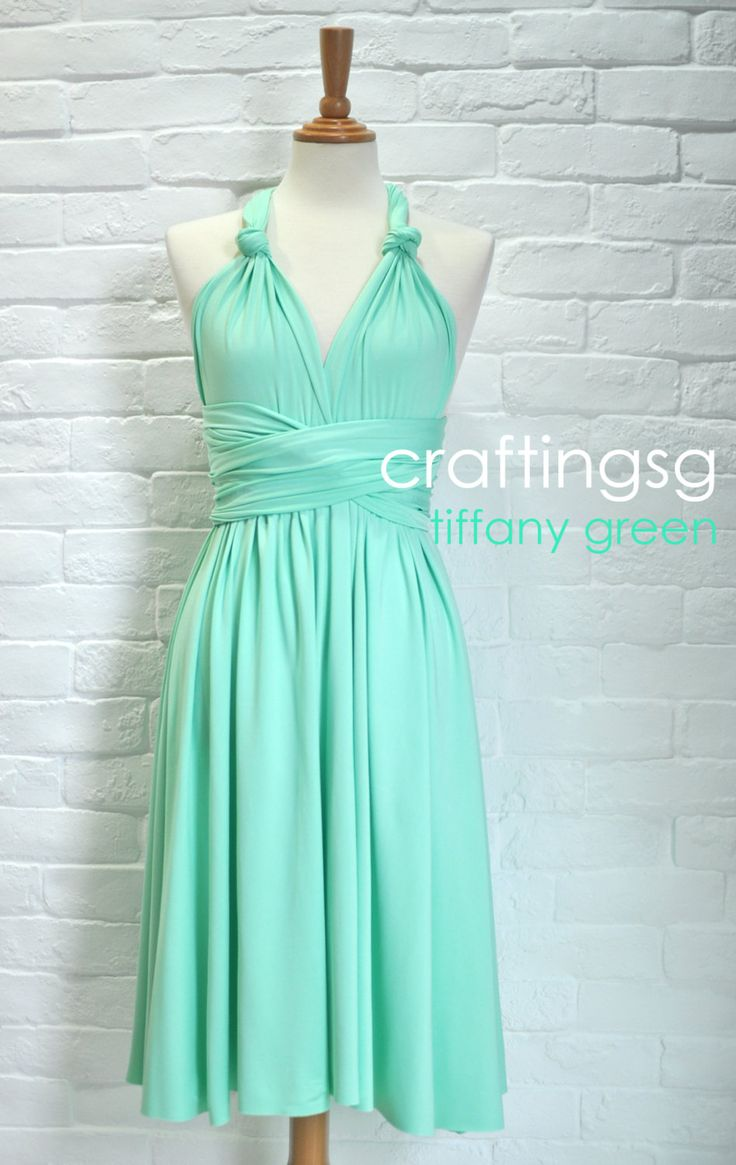 bridesmaid dress infinity dress seafoam green knee length. Black Bedroom Furniture Sets. Home Design Ideas