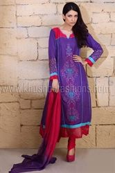 Picture of Pink and Purple Kameez and Churidar