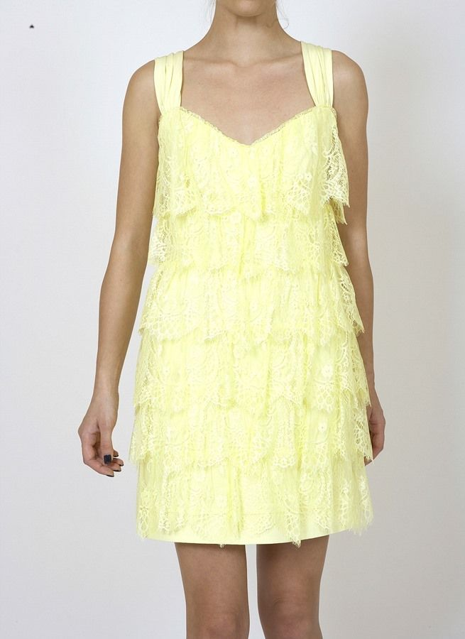 MINI FRILLED LACE DRESS WITH DECORATIVE RIBBON