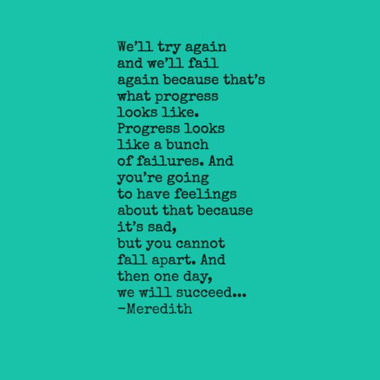 Yes, I was inspired by a Grey's Anatomy quote, I'll admit it....