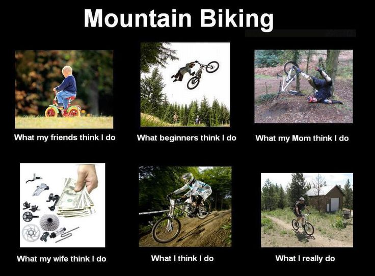 "Mountain Biking- they need to change the ""wife"" part to ""spouse"" though. Makes it sound like there are no badass biker chicks like me out there :)<--amen."