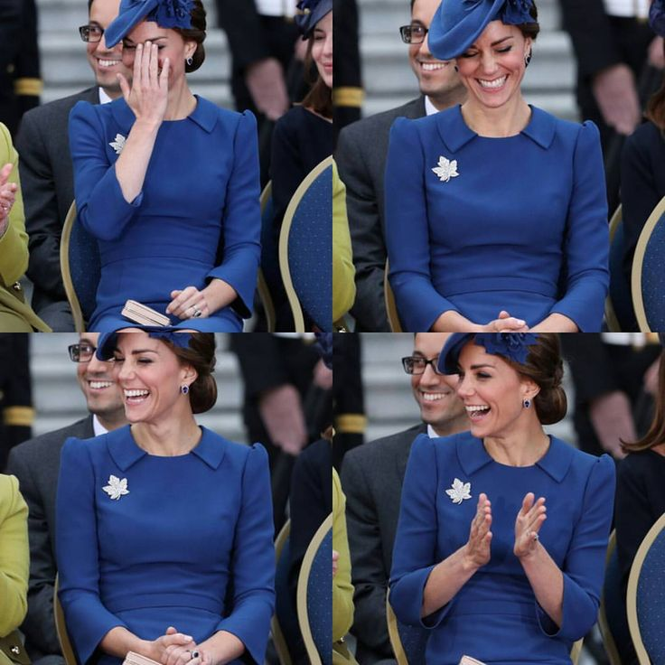This probably was kate's reaction at the moment that william was speaking french 😂😂