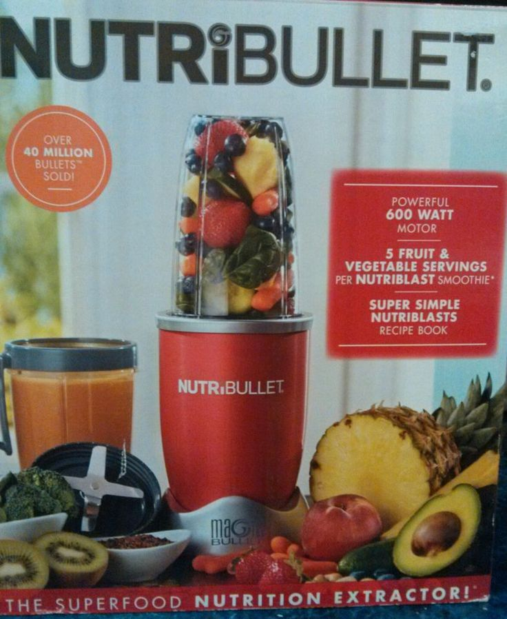 NEW RED 8 PIECE NUTRIBULLET  600 WATTS FROM THE MAKERS OF MAGIC BULLET   | eBay