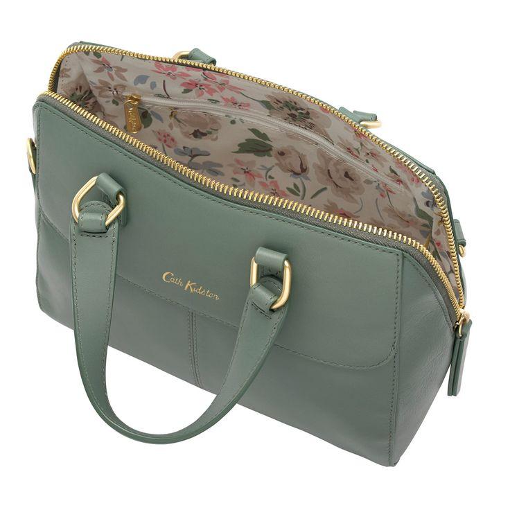 Khaki Henshall Leather Bag | Occasion Bags | CathKidston