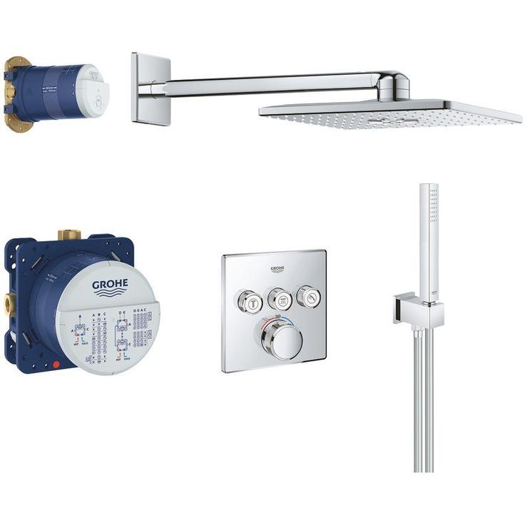 Grohtherm SmartControl Perfect set de douche avec Rainshower 310 SmartActive Cube (34706000) - 34706000 - Plomberie sanitaire chauffage