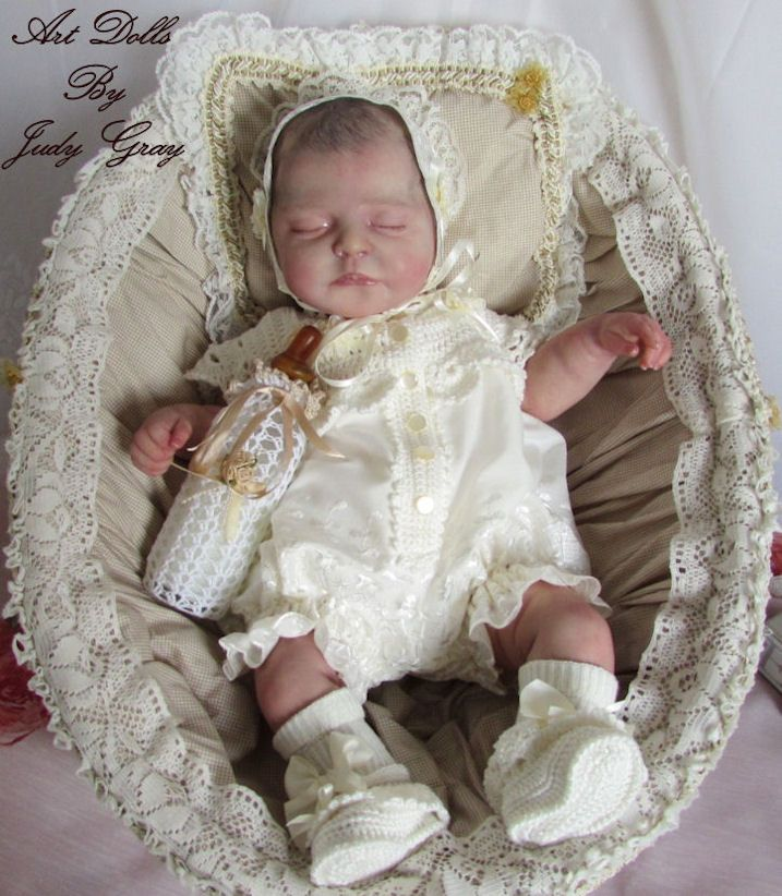 sculpt of Princess Charlotte by Nikki Johnson, brought to life by master Artist Judy Gray at Kisses From Heaven Nursery