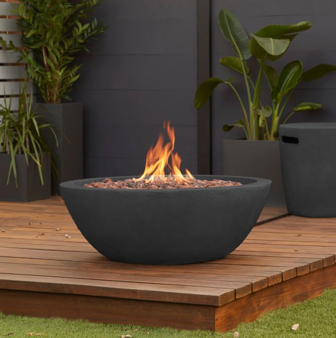 36 Riverside Outdoor Gas Fire Pit Bowl In 2020 Propane Fire Bowl Fire Bowls Gas Firepit