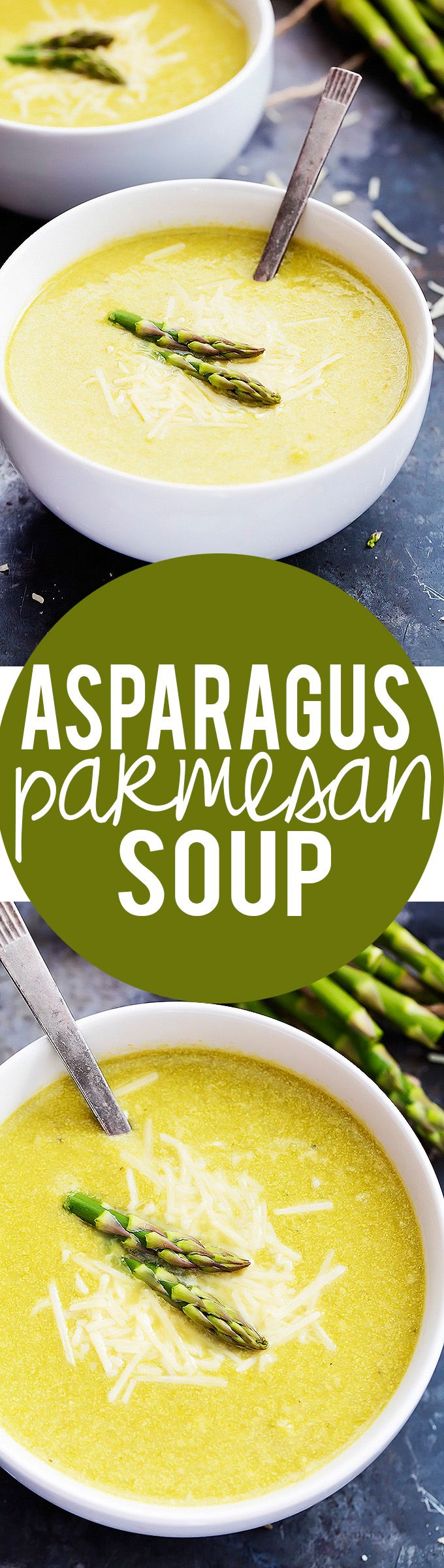 Asparagus Parmesan Soup  | Creme de la Crumb                                                                                                                                                      More