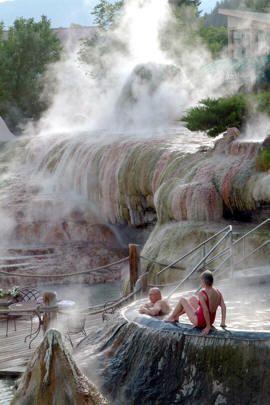 Pagosa Springs, Colorado: 17 individually temperatured soaking pools terraced along the river's bank