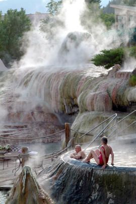 Best Hot Springs Around the World that are Earth's Greatest Gift to Mankind Pagosa Springs, Colorado---a 1 hour scenic drive east of Durango, CO. A comforting aura surrounds visitors as they make their way to the 17 individually temperatured soaking pools terraced along the river's bank