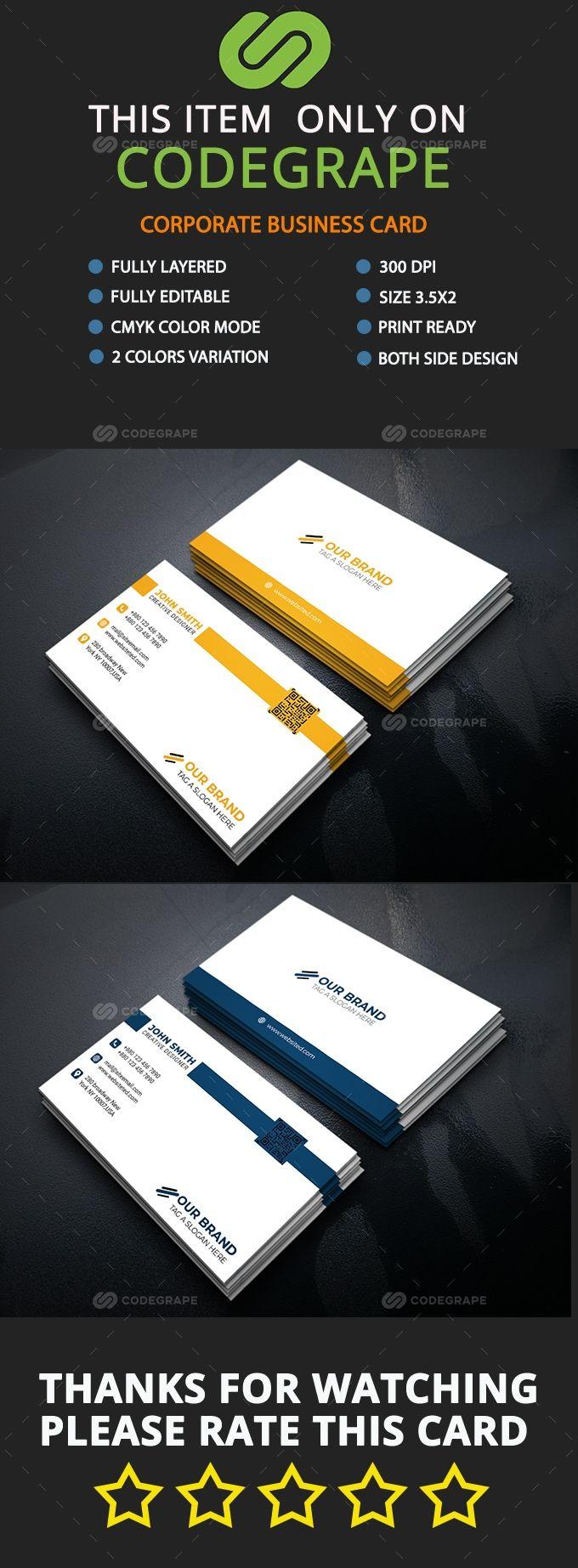 Business Card Template In 2021 Business Card Template Corporate Business Card Card Template