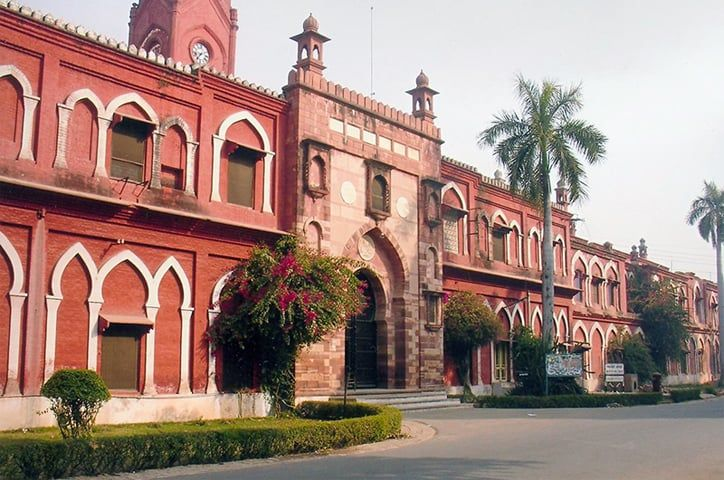 The Muhammadan Anglo Oriental College was founded in 1877 as one of India's earliest residential educational institutions. It was affiliated first with the University of Calcutta and then with the University of Allahabad. By 1920 the college had grown and expanded into the Aligarh Muslim University | Dawn file photo