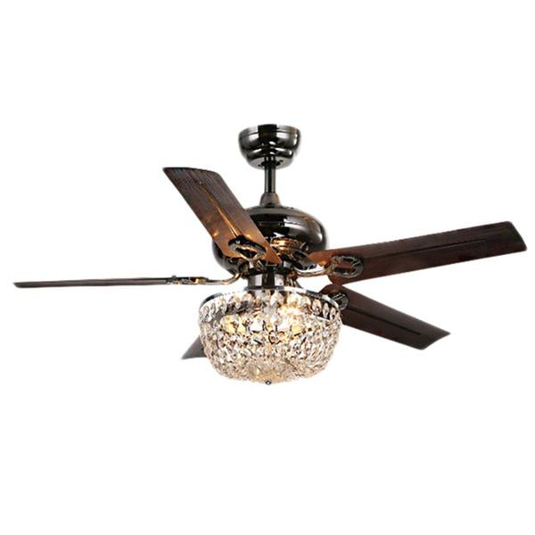 Angel 3-light Crystal 5-blade 43-inch Bronze Chandelier Ceiling Fan - 18058217 - Overstock - Great Deals on Warehouse of Tiffany Ceiling Fans - Mobile