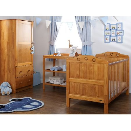 OBaby Lisa 3 Piece Furniture Set-Country Pine PACKAGE INCLUDES: OBaby LIsa Cot Bed OBaby Open Changing Unit OBaby Single Wardrobe OBABY Lisa COTBED: The Obaby Lisa Cot Bed has a traditional style with play balls on either end to keep your little  http://www.MightGet.com/march-2017-1/obaby-lisa-3-piece-furniture-set-country-pine.asp