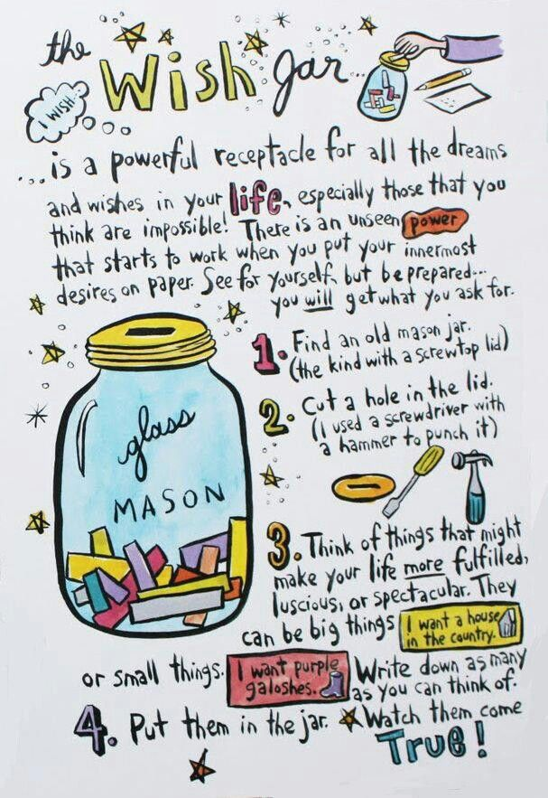 Wish Jar : Such a fun powerful tool for manifesting. Everyone should have one.                                                                                                                                                                                 More