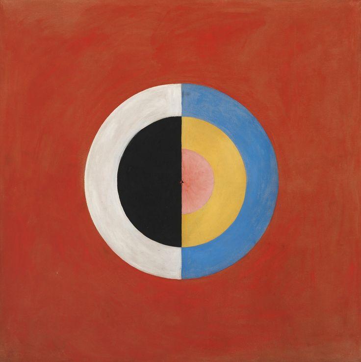 """peinture abstraite suédoise : Hilma af Klint, 1915, """"Svanen"""", géométrique, femmes artistes, 1910s, cercle"""