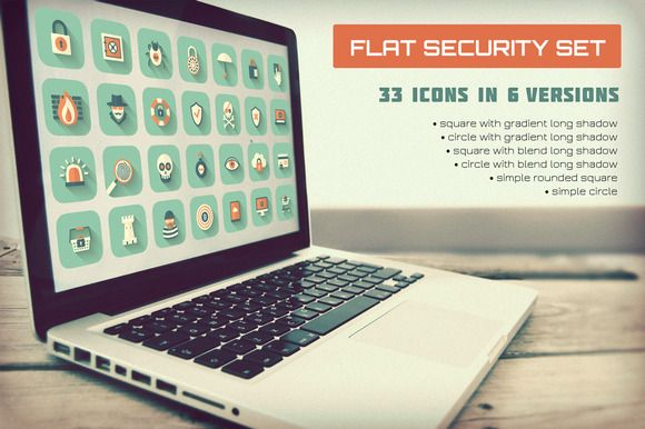 Check out Flat Security Set by MastakA on Creative Market