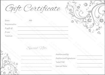Best 25 blank gift certificate ideas on pinterest gift blank gift certificate template google search yadclub Choice Image