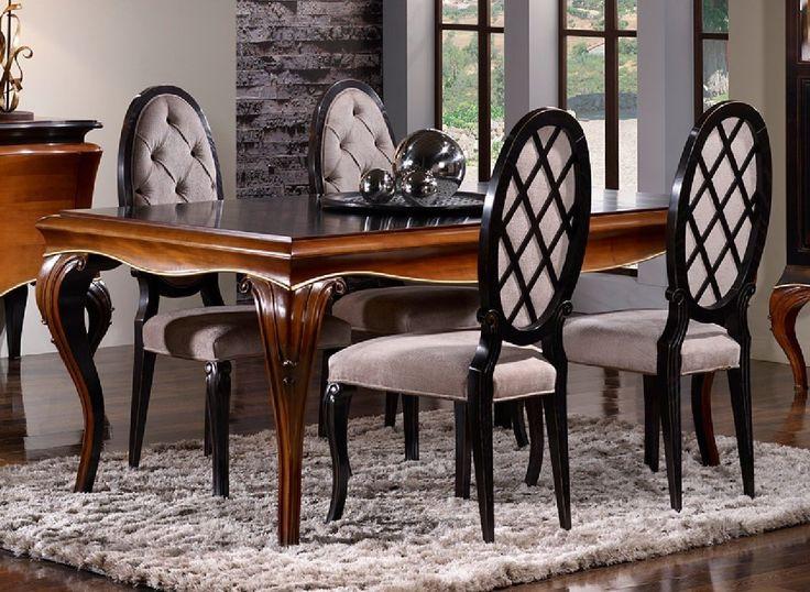 Silla cl sica de comedor dalma en mbar muebles muebles for Comedores tapizados
