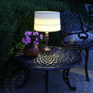 21 best outdoor lighting images on pinterest outdoor lighting table lamp brings indoor ambiance outside mozeypictures Image collections