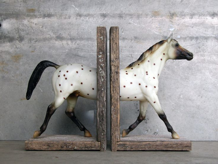Polka Dot Sculpture Horse Bookend. $120.00, via Etsy. Okay, I want to chop my breyers in half now.: