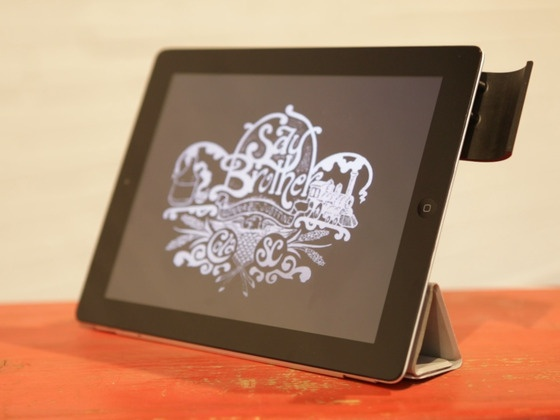 The Boast: A sound reflector for the iPad 2 and new iPad. by Nick Wilson, via Kickstarter.