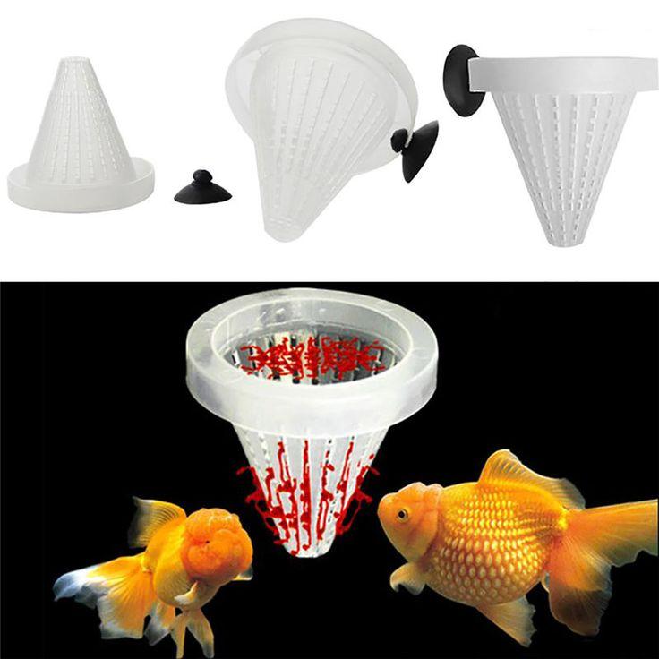 quarium Feed Sucker 6.8*6.7cm Plastic White Funnel Feeder Bloodworm Fish Aquarium Food Pet Easy To Use A2