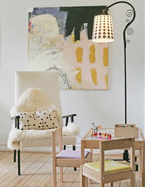 danish home via decor8 via ohdeedoh: i love this family spaceArtists Studios, Art Crafts, Line Juhl Hansen, Abstract Art, Abstract Painting, Creative Collaborative, Art Inspiration, Interiors, Funky Art