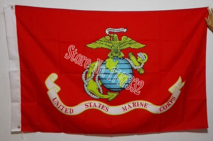 Морской Пехоты США Корпус Морской Пехоты Сша Орел Глобус Якорь Флаг горячее надувательство товаров 3X5FT 150X90 СМ Баннер латунь металл отверстия OSU5