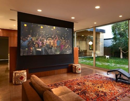 Drop Down screen turns any room into a Home Theater | # ...