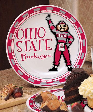 Take a look at this Ohio State Game Day Border Ceramic Plate by The Memory Company on #zulily today!