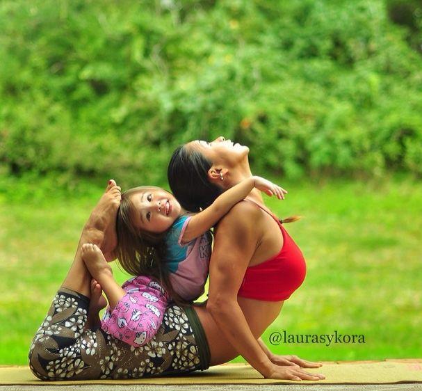 Another amazing yoga mom | BabyCenter Blog #yoga #motherhood #mommy&me