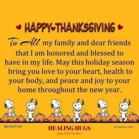 Happy Thanksgiving To All My Friends And Family Pictures Quotes