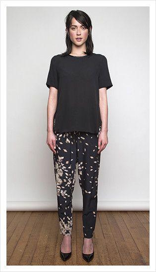 zephyr t & drawstring pant   winter 2014 collection   juliette hogan