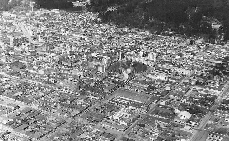 Foto aérea de la ciudad de Concepción, 1950.