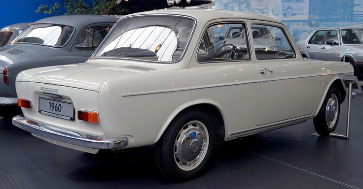Volkswagen EA 97 prototype, 1960. Originally devised as a Beetle replacement, a pilot run of 200 cars were made before the project abandoned. In 1969 it provided the basis for the 'Brasilia' – the Brazilian VW subsidiary VW do Brasil produced the compact car until 1982