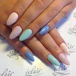 Kolorowo #eclair  #nails  #nailart  #nailporn  #nudenails