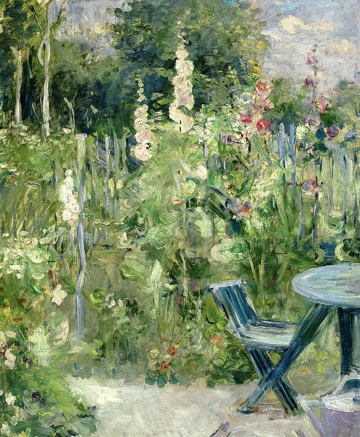 The garden at Berthe and Eugene Manet's house on the rue de Villejuste, in Paris.