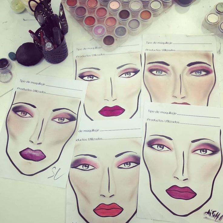 Clase de diseño de #facechart de #maquillaje #belleza para el curso intensivo de verano! Los esperamos a todos en el próximo inicio del 28 al 2 de septiembre curso de seis días (cada día) #makeup #makeupartist #faceandbody #instagood #makeupglam #maquillajeprofesional #artmakeup #hair #peinados #uñas #solecester