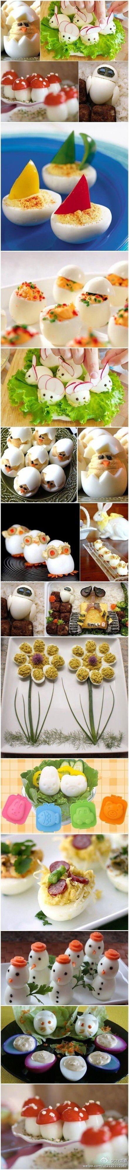 les oeufs en folie, supers décors à base d'oeufs pour les salades