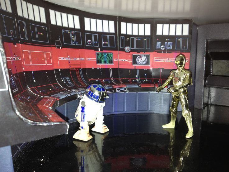 RD-D2 and C3-P0 in Control Room of the Death Star