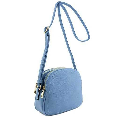 New Trending Make Up Bags: Double Zip Half Moon Crossbody Bag Denim Blue. Double Zip Half Moon Crossbody Bag Denim Blue   Special Offer: $21.50      211 Reviews This double zip half moon shaped small-medium size crossbody bag makes easy to organize your everyday items.8″ (W) x 6.5″ (H) x 2.5″ (D)Zipper  magnetic snap button...