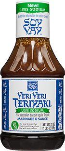 Less Sodium Teriyaki Sauce - Soy Vay Veri Veri Teriyaki Less Sodium