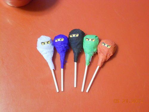 Lego Ninjago Eyes Tootsie Pop Wrappers DIY Birthday party favor decoration | eBay