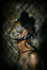 'A Naga warrior ' head hunter