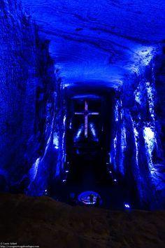 La cathédrale de sel souterraine de Zipaquira tout près de Bogotá, Colombie.
