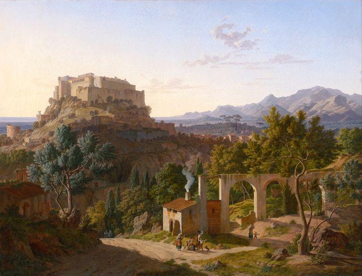 Leo von Klenze, Landscape with the Castle of Massa di Carrara