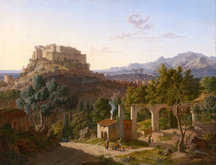 Leo von Klenze, Landscape with the Castle of Massa di Carrara